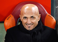 Calcio, Serie A: Roma vs Milan. Roma, stadio Olimpico, 12 dicembre 2016.<br /> Roma's coach Luciano Spalletti waits for the start of the Italian Serie A football match between Roma and AC Milan at Rome's Olympic stadium, 12 December 2016.<br /> UPDATE IMAGES PRESS/Isabella Bonotto