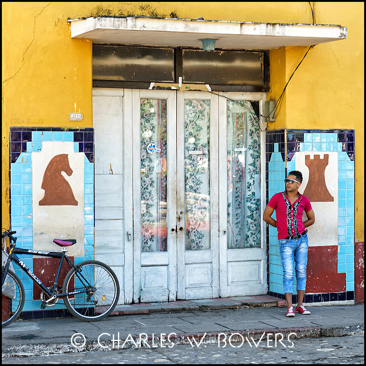 Faces Of Cuba - The chess club in Trinidad. Waiting for players.<br /> <br /> - Limited edition of 50 prints.