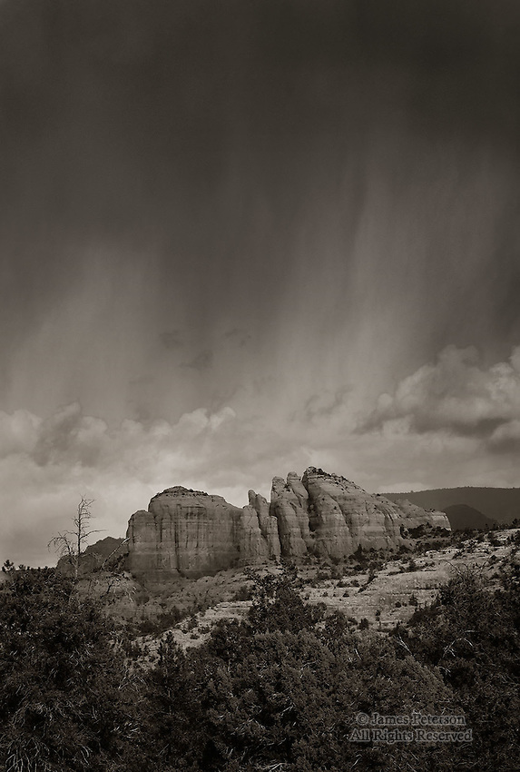 Storm over The Rock, near Sedona, Arizona