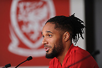 Ashley Williams of Wales during the Wales Press Conference at The Principality Stadium in Cardiff, Wales, UK. Wednesday 10 October 2018