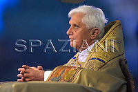 Corpus Domini Pope Benedict XVI basilicas San Giovanni in Laterano in Rome. May 22, 2008