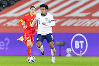 SWANSEA, WALES - NOVEMBER 12: Weston McKennie #8 of the United States moving with the ball during a game between Wales and USMNT at Liberty Stadium on November 12, 2020 in Swansea, Wales.