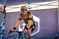 Wout van Aert (BEL/Jumbo-Visma) warming up ahead of the race<br /> <br /> 2020 Superprestige in Boom (BEL) <br /> <br /> ©kramon