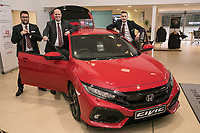 Vertu Honda dealership Nottingham. Pictured from left are Chris Duggen, Anthony Curry and Mark Whitehead
