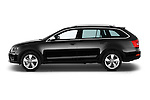 Car Driver side profile view of a 2015 Skoda Octavia Scout 5 Door Wagon Side View