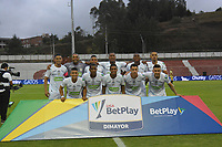 RIONEGRO - COLOMBIA, 24-01-2020:Jugadores de Jaguares de Cordoba posan para una foto previo al partido entre Rionegro y Jaguares de Córdoba por la fecha 1 de la Liga BetPlay I 2020 jugado en el estadio Alberto Grisales de la ciudad de Rionegro. / Players of Jaguares de Cordoba pose to a photo prior match between Rionegro and Jaguares de Cordoba for the date 1 as part of BetPlay League I 2020 played at Alberto Grisales stadium in Rionegro. Photo: VizzorImage / León Monsalve / Cont /