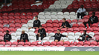 The Brentford substitute's observe the social distancing guidelines during Brentford vs Preston North End, Sky Bet EFL Championship Football at Griffin Park on 15th July 2020