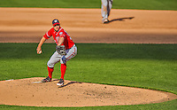 20 April 2013: Washington Nationals pitcher Craig Stammen on the mound in relief against the New York Mets at Citi Field in Flushing, NY. The Nationals rallied to defeat the Mets 7-6 and tie their 3-game series at one a piece. Mandatory Credit: Ed Wolfstein Photo *** RAW (NEF) Image File Available ***