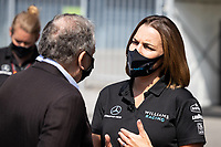 6th September 2020; Autodromo Nazionale Monza, Monza, Italy ; Formula 1 Grand Prix of Italy, Race Day;  Jean Todt FRA, FIA President, Claire Williams GBR, Williams Racing