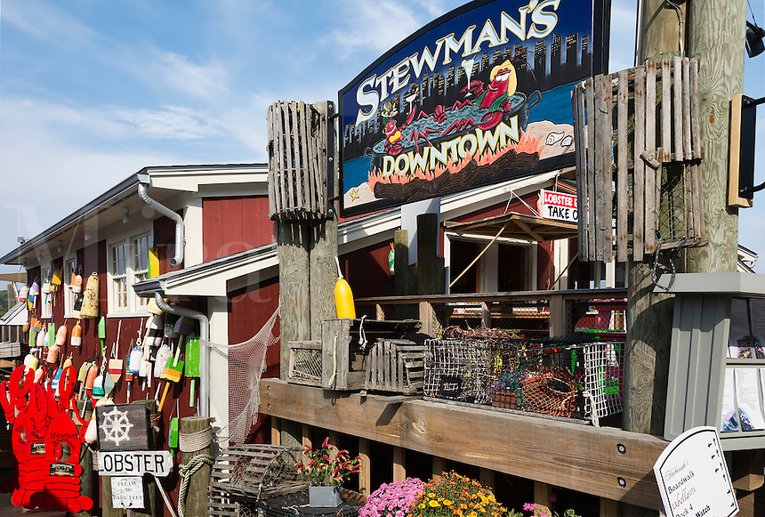 Stewman's Downtown lobster pound, Bar Harbor, Maine, USA