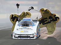 Aug 31, 2019; Clermont, IN, USA; NHRA funny car driver John Force during qualifying for the US Nationals at Lucas Oil Raceway. Mandatory Credit: Mark J. Rebilas-USA TODAY Sports