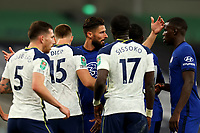 29th September 2020; Tottenham Hotspur Stadium, London, England; English Football League Cup, Carabao Cup, Tottenham Hotspur versus Chelsea; Olivier Giroud of Chelsea argues with Dier of Spurs