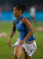 Natasha Kai. The US lost to Norway, 2-0, during first round play at the 2008 Beijing Olympics in Qinhuangdao, China.