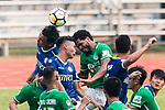 Eduardo Praes of Wofoo Tai Po (R) in action against Yiu Kwok of Rangers (L) during the week three Premier League match between BC Rangers and Wofoo Tai Po at Sham Shui Po Sports Ground on September 17, 2017 in Hong Kong, China. Photo by Marcio Rodrigo Machado / Power Sport Images