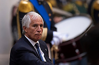 The president of CONI Giovanni Malago' during the official visit of the football Italy National team, after winning the UEFA Euro 2020 Championship.<br /> Rome (Italy), July 12th 2021<br /> Photo Pool Augusto Casasoli Insidefoto