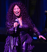 MIAMI, FL - FEBRUARY 17: Chaka Khan preforms onstage at The Knight Concert Hall on February 17, 2017 in Miami, Florida. <br /> <br /> People:  Chaka Khan