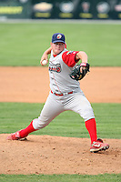 August 25 2008:  Pitcher Jesse Oster of the Williamsport Crosscutters, Class-A affiliate of the Philadelphia Phillies, during a game at Dwyer Stadium in Batavia, NY.  Photo by:  Mike Janes/Four Seam Images
