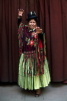 38 year old wrestler Carmen Rosa (fighting name), Polonia Ana Choque Silvestre (real name), founder of the wrestling group Las Diosas del Ring. Polonia is a Cholita, a wrestler of native Aymara descent. When Cholitas fight they wear traditional costume: colourful dresses and dark bowler hats...