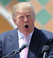 NEW YORK, NY - JUNE 29: FILE PHOTOS - NBCUniversal, under pressure from an array of Hispanic groups, is severing its business ties to presidential candidate Donald Trump on June 29, 2015 in New York City.<br /> <br /> <br /> People:  Donald Trump