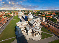 Aerial view of the Romanesque Duomo of Pisa
