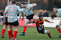 Ben Ransom of Blackheath Rugby evades a tackle during the English National League match between Richmond and Blackheath  at Richmond Athletic Ground, Richmond, United Kingdom on 4 January 2020. Photo by Carlton Myrie.