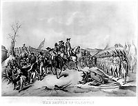 Surrender of the Hessian Troops to General Washington, after The Battle of Trenton. December 1776.  Copy of lithograph, 1850. (George Washington Bicentennial Commission)<br /> Exact Date Shot Unknown<br /> NARA FILE #:  148-GW-332<br /> WAR & CONFLICT #:  31