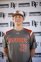 Gus Collins (20) of Pryor High School in Chouteau, Oklahoma during the Baseball Factory All-America Pre-Season Tournament, powered by Under Armour, on January 12, 2018 at Sloan Park Complex in Mesa, Arizona.  (Zachary Lucy/Four Seam Images)