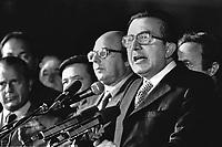 - Giulio Andreotti (DC), festa dell'Amicizia a Udine, 1977....- Giulio Andreotti (DC, Christian Democratic Party), Fest of the Friendship in Udine, 1977