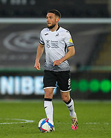 20th April 2021; Liberty Stadium, Swansea, Glamorgan, Wales; English Football League Championship Football, Swansea City versus Queens Park Rangers; Matt Grimes of Swansea City brings the ball forward