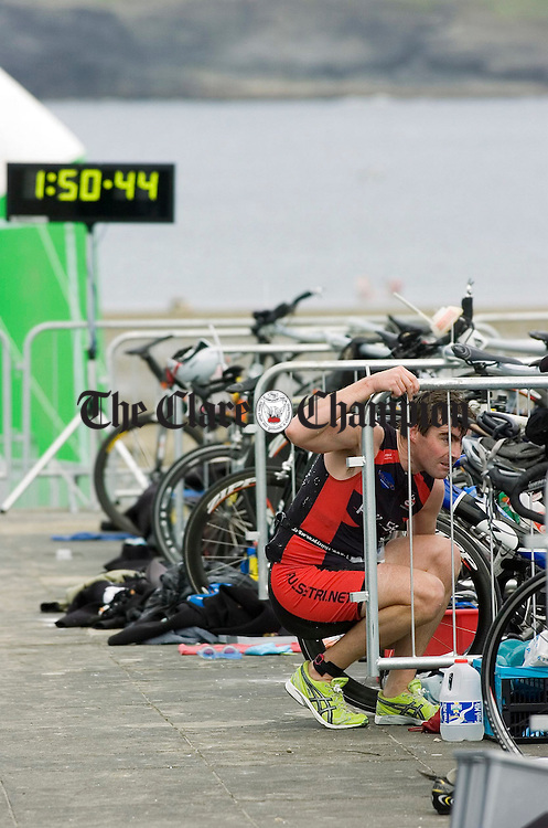 Racing the clock in the Kilkee Triathlon.Pic Arthur Ellis.