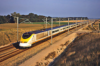 Eurostar, high speed train running between London Waterloo, Paris and Brussels.  France.