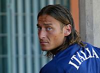 Coverciano 25/5/2004 Primo giorno di ritiro della nazionale italiana in vista degli Europei 2004 in Portogallo. <br /> Francesco Totti <br /> Foto Andrea Staccioli Insidefoto