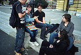 Group of students in front of HNK (Croatian National Theatre)