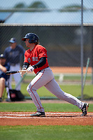 Boston Red Sox Trent Kemp (43) during a minor league Spring Training game against the Tampa Bay Rays on March 23, 2016 at Charlotte Sports Park in Port Charlotte, Florida.  (Mike Janes/Four Seam Images)
