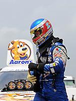Apr. 30, 2011; Baytown, TX, USA: NHRA funny car driver Jack Beckman during qualifying for the Spring Nationals at Royal Purple Raceway. Mandatory Credit: Mark J. Rebilas-