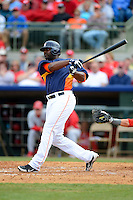Houston Astros outfielder Chris Carter #13 during a Spring Training game against the St. Louis Cardinals at Osceola County Stadium on March 1, 2013 in Kissimmee, Florida.  The game ended in a tie at 8-8.  (Mike Janes/Four Seam Images)