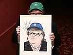 Michael Moore And Michael Mayer portrait unveilings at Sardi's