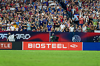 NASHVILLE, TN - SEPTEMBER 5: BioSteel signage during a game between Canada and USMNT at Nissan Stadium on September 5, 2021 in Nashville, Tennessee.