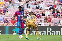 26th September 2021;   Nou Camp, Barcelona, Spain: La Liga football, FC Barcelona versus Levante: Ansu Fati Barcelona takes on Miramón of Levante