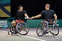 Rotterdam, The Netherlands, 5 march  2021, ABNAMRO World Tennis Tournament, Ahoy,  Quarter final wheelchair: Tom Egberink (NED) / Maikel Scheffers (NED).<br /> Photo: www.tennisimages.com/henkkoster