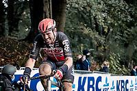 John Degenkolb (DEU/Trek-Segafredo) up the Kemmelberg<br /> <br /> 82nd Gent-Wevelgem in Flanders Fields 2020 (1.UWT)<br /> 1 day race from Ieper to Wevelgem (232km)<br /> <br /> ©kramon