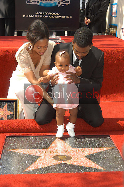 Chris Rock with wife Malaak Compton-Rock and daughter Lola