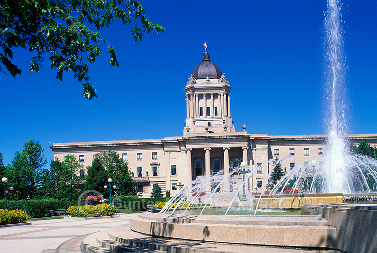 The Manitoba Legislative Building (completed in 1920), in the City of Winnipeg, Manitoba, Canada