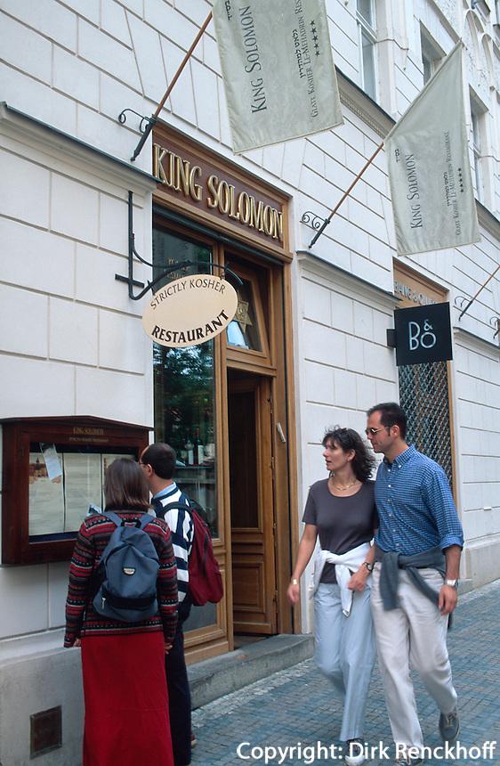 Tschechien, Prag, koscheres Restaurant King Solomon