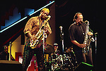 George Adams and Joe Lovano, Aug, 1990 : George Adams and Joe Lovano performing at Mt. Fuji Jazz Festival '90, Japan