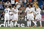 Real Madrid's Nacho Fernanadez, Raul Albiol, Xabi Alonso, Raphael Varane, Fabio Coentrao and Cristiano Ronaldo celebrate goal during La Liga match.May 08,2013. (ALTERPHOTOS/Acero)