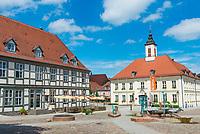 Rathaus am Marktplatz, Angermünde, Uckermark, Brandenburg, Deutschland