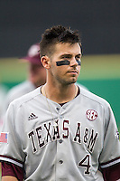 Texas A&M Aggies outfielder Nick Banks (4) before the Southeastern Conference baseball game against the LSU Tigers on April 24, 2015 at Alex Box Stadium in Baton Rouge, Louisiana. LSU defeated Texas A&M 9-6. (Andrew Woolley/Four Seam Images)