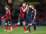 Ross County v St Johnstone....07.04.15   SPFL<br /> Steven MacLean applauds the travelling fans as he is subbed<br /> Picture by Graeme Hart.<br /> Copyright Perthshire Picture Agency<br /> Tel: 01738 623350  Mobile: 07990 594431