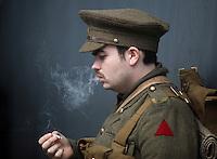2016 07 01 Somme commemoration, actors in WWI gear in Swansea, UK